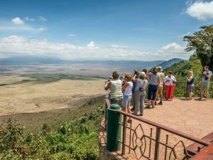 View over Ngorongoro conservation area in Tanzania