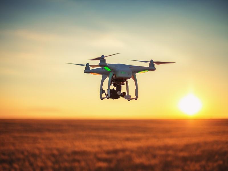 DJI drone flying