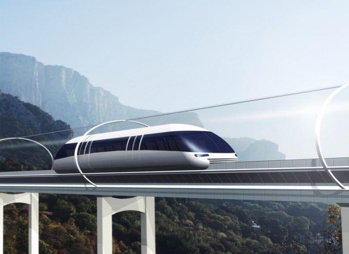 Hyperloop concept drawing