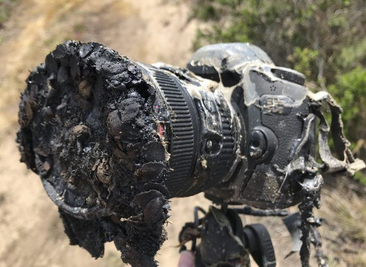 Ingalls' camera destroyed by the flames