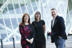 Inspirefest launch from left Áine McCleary, David Tighe, Ann O'Dea
