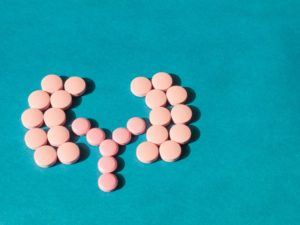 Antibiotics assembled to look like kidneys