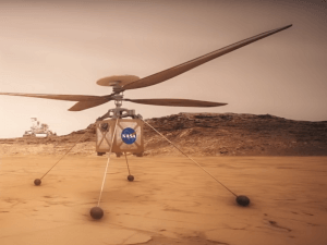 Mars helicopter touching down