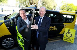 From left: General manager for Ireland at Mytaxi, Alan Fox and Minister for Transport, Tourism and Sport, Shane Ross TD.