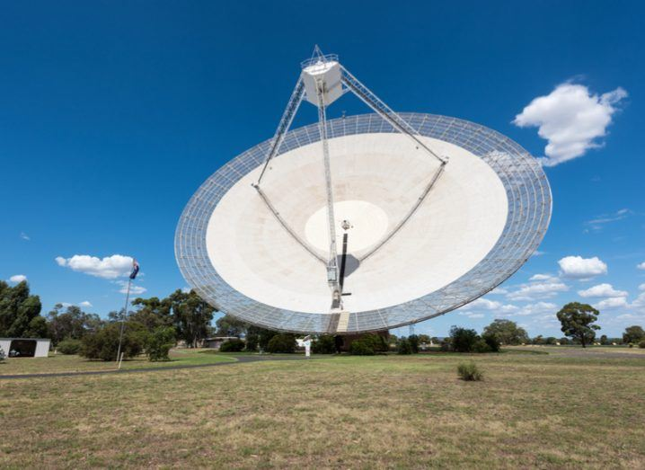 Parkes radio telescope in Australia