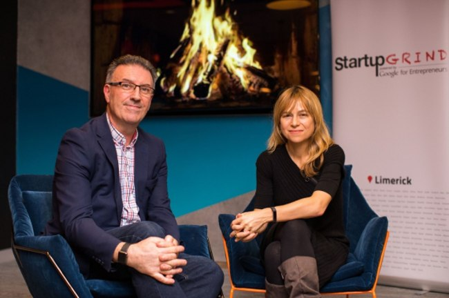 Pat Carroll with TechIreland.org CEO Niamh Bushnell at a recent Startup Grind event in Limerick.