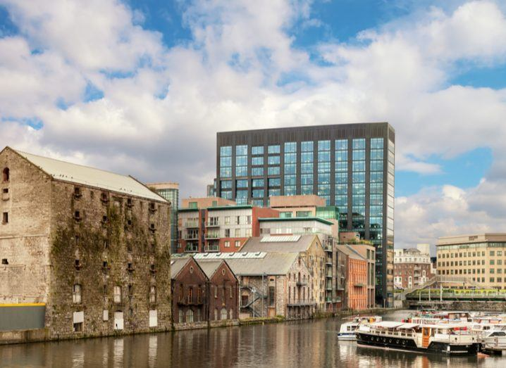 Image of grand canal docks area of Dublin where Google is based