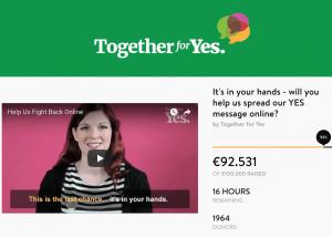 Together for Yes website