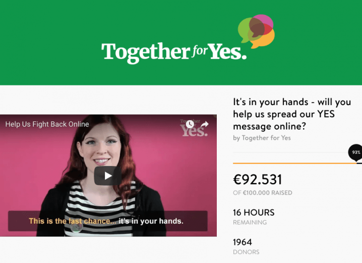 Together for Yes website