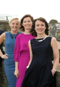 Emily Ross, Gráinne Barry and Martina Skelly line up for a photo out on the streets of Limerick