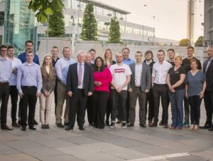 Invent 2018 Finalists pictured with Dr. Michael Shaw, RPS and Gavin Kennedy, Bank Of Ireland UK