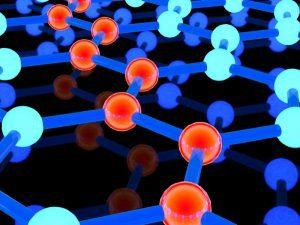 Interconnected atoms graphene