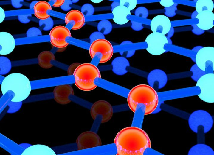 Interconnected atoms graphene
