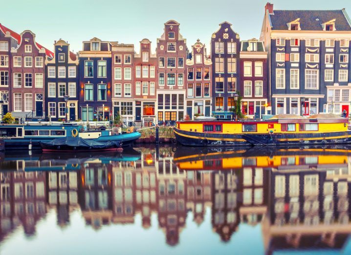 picture of Amsterdam houses along canal