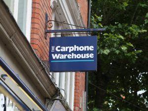 carphone warehouse sign