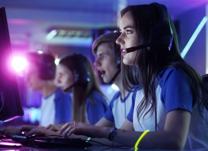 Image of players at an e-sports tournament