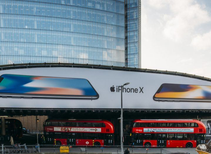 iphone billboards in London