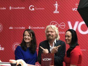 Richard Branson with Voom winners