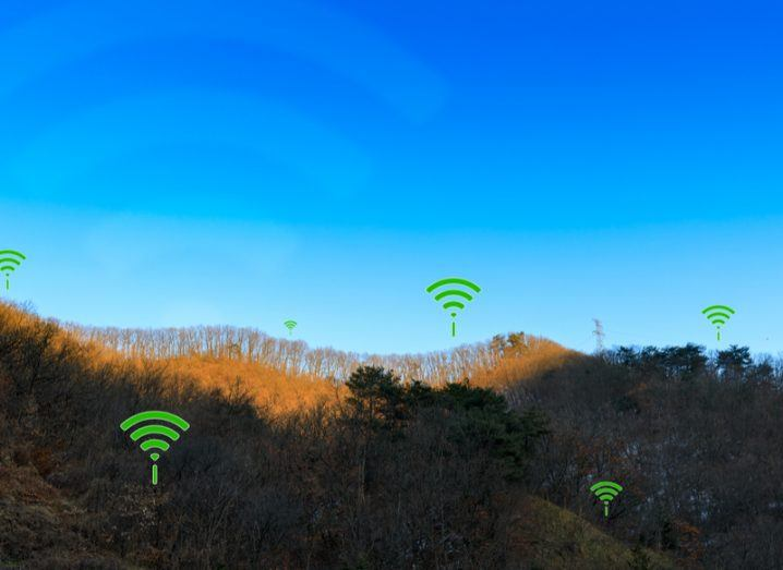 wireless broadband symbols in a rural area