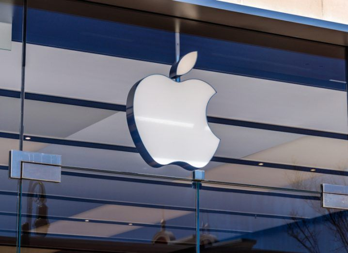 Apple store front with logo. Apple scraps Athenry data centre