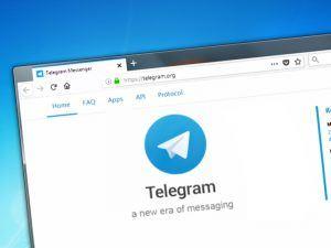 Telegram app on a desktop computer