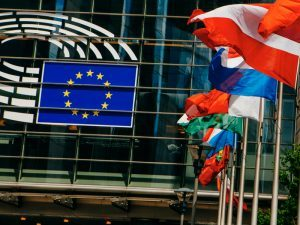 EU parliament building in Brussels