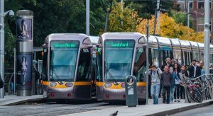 Luas Stop at St Stephen's Green, Dublin, near where the new EMEA headquarters of cloud data company Segment are based. Image: Roy Harris / Shutterstock