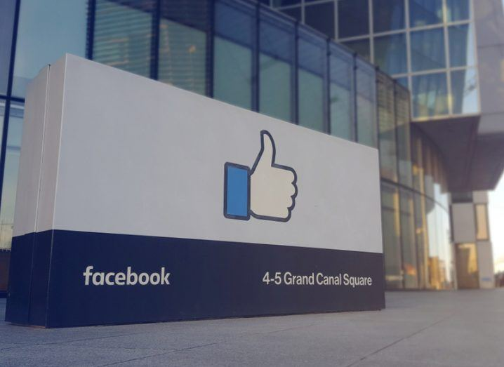 Thumbs-up 'like' sign outside Facebook's Dublin headquarters