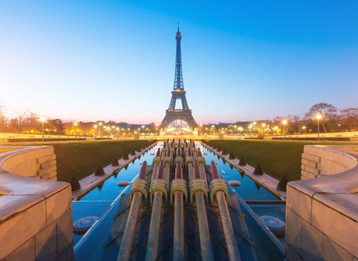 Paris: The Eiffel Tower at sunrise