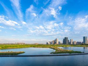 Skyline in Hangzhou, China, where Ant Financial's head office is located. Image: THINK A/Shutterstock