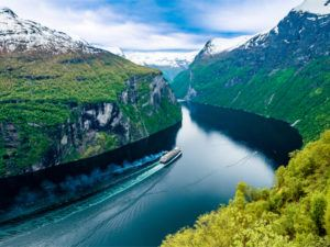 Geiranger fjord in Norway,