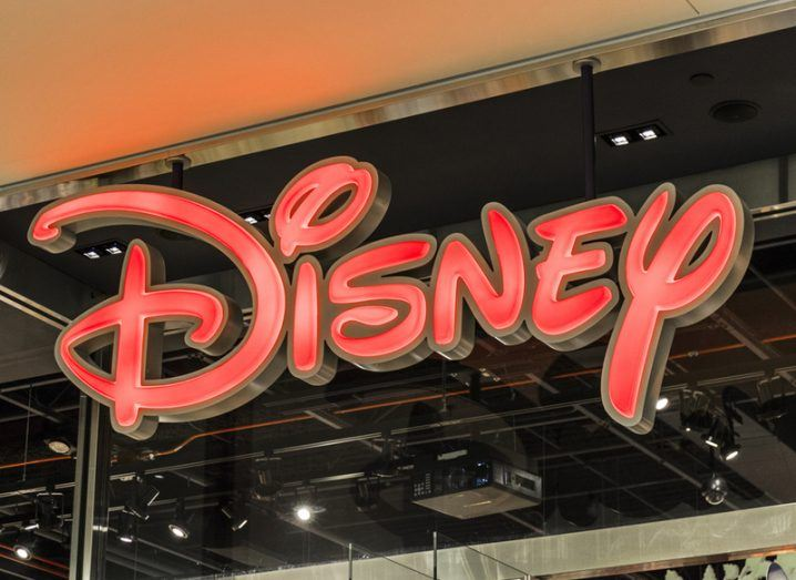 Disney logo on shop front