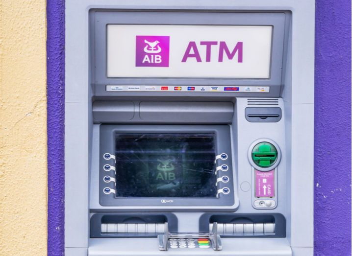 AIB ATM in exterior wall of branch in Longford.