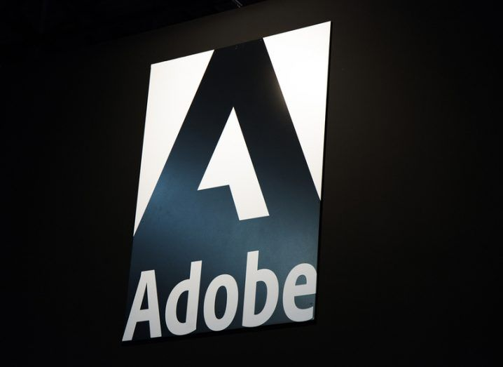 Adobe logo in black and white