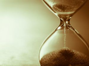 an hourglass filled with sand