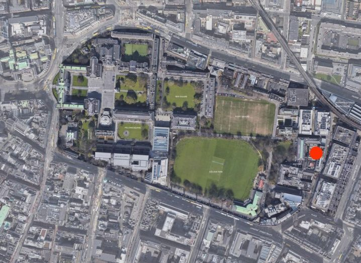 Aerial view of the planned location of the E3 Institute