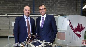 From left: David Kerr, CEO, Eirtech Aviation Composites; Alastair Hamilton, CEO, Invest NI. Image: Invest NI Eirtech Aviation Services