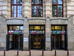Amsterdam Euronext stock market building