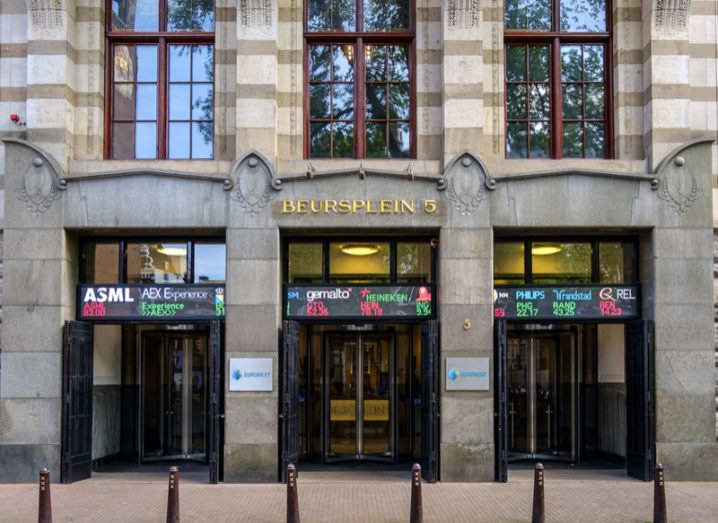 Amsterdam Euronext stock market building