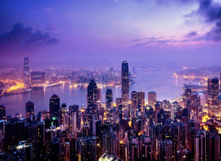Hong Kong at nightime