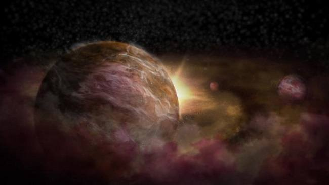 Baby planet forming