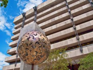 Former Central Bank building on Dame Street Dublin. Image: ShutterupEire/Shutterstock