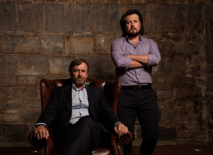 Retail industry veteran and Buymie chair Eamon Quinn with Buymie CEO Devan Hughes. Image: Buymie