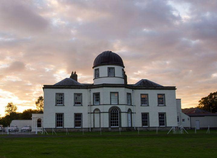 Dunsink observatory at dusk