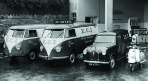 Original ECI vehicle fleet from the 1960s. Image: ECI
