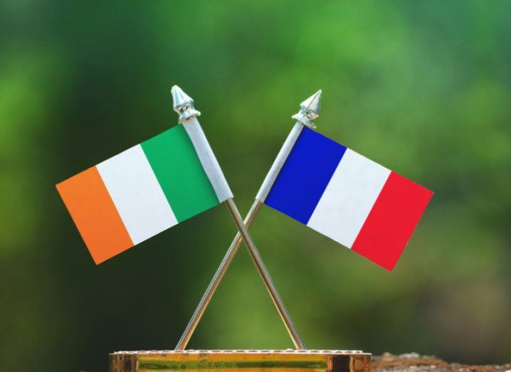 Ireland and France flags