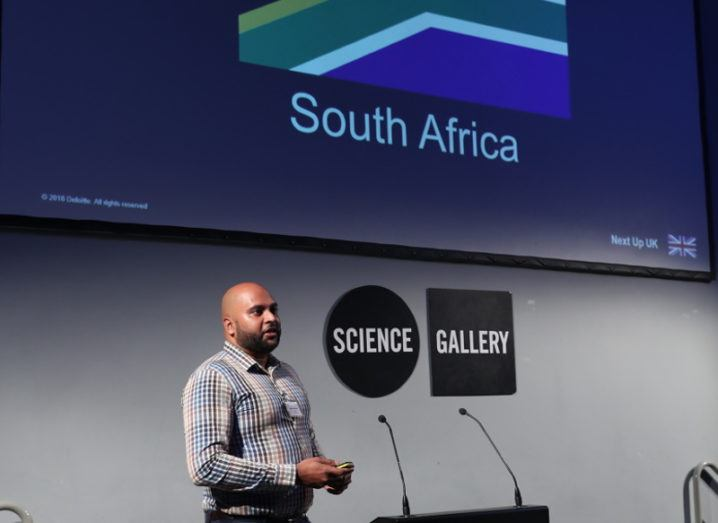 Kreeban Govender, manager of Risk Advisory at Deloitte South Africa, at the recent blockchain Community of Practice event in Dublin. Image: Jason Clarke Photography