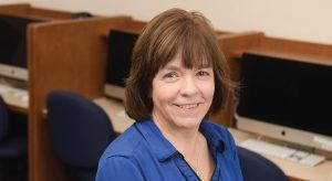 Professor and Chair of the Computer Science program, Jodi Tims, at Baldwin Wallace University
