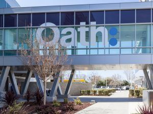 Oath sign at Yahoo's former headquarters in California. Image: JHVEPhoto/Shutterstock