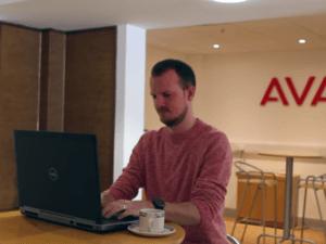 Cathal Mac Donnacha, a front-end web developer at Avaya